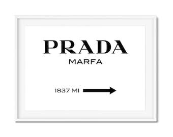 Prada Prada Marfa Gossip Girl Prada Print Fashion Print Bedroom Art Bedroom Print Prada Marfa Print Prada Poster Fashion Poster Girl Bedroom