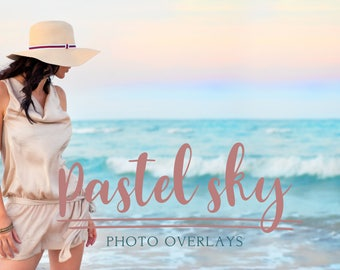 Pretty Pastel Sky Overlays, sky overlay,  sky overlays, photoshop overlay, cloud overlay