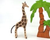 Waldorf toys, Wooden Giraffe Toy, Wooden animals, Zoo animals, Zoo toys, Africa toys, wooden toys, waldorf animals, Giraffe figurine