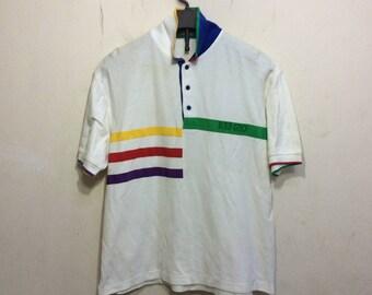 vintage 90s kenzo golf paris men polos shirt size L