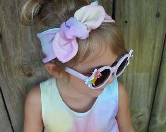 M A G I C A L  Top Knot Collection-  top knot, girl headband, toddler headband, baby headband, pastel headband, top knot, unicorns, feathers
