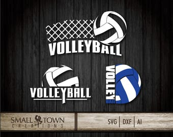 Volleyball SVG - Cut Files - Vinyl Cutters, Screen Printing, Silhouette, Die Cut Machines, & More