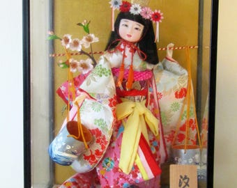 Japanese Geisha Doll in Presentation Case