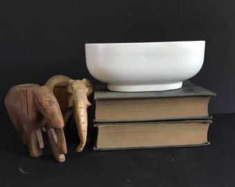 Haeger white oblong planter / Haeger 3829 USA pottery / vintage white planter
