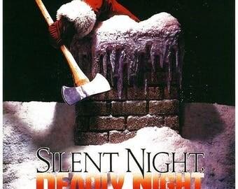 Summer Sale Silent Night Deadly Night Movie Poster Christmas Horror Slasher