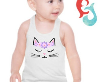 Cat Top baby//toddler//youth