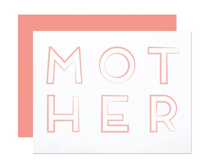 MOTHER - Graphic Mother's Day Card