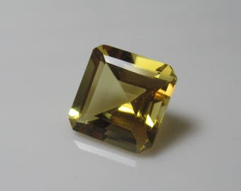 7 cts Natural Citrine Faceted Square, Citrine Gemstone, Faceted Citrine, Semi Precious Gemstone size 12 x 12 mm  ET 1669