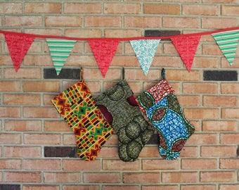 Fabric Christmas - Fabric Stockings - Family Stockings - Christmas Stockings Set - Stocking for Women - Set Christmas Stockings