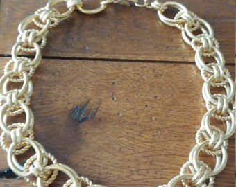 Heavy Monet Gold Tone Necklace