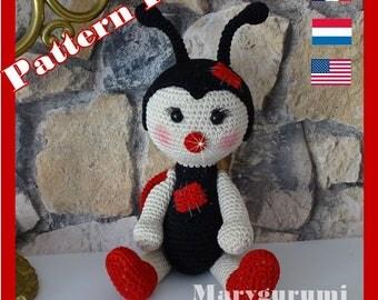 Crochet Pattern, pattern, tutorial, Amigurumi, Lucky Ladybug