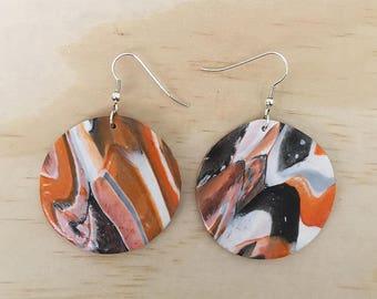 "Handmade statement dangle earrings // gifts for her // ""Dark side"""