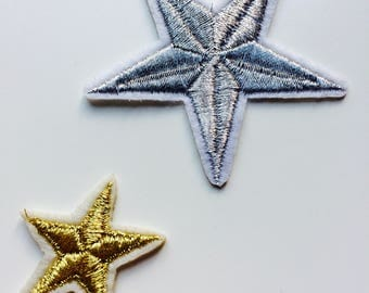 Patches | Patch | Set | Hipster | Trendy | Emo | DIY | Fashion | Star | Gold | Silver | Retro