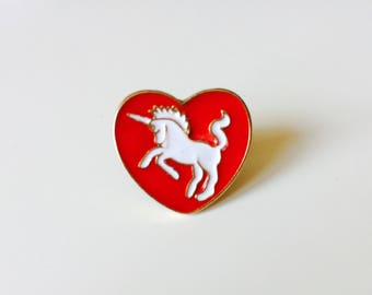 Heart | Unicorn | Cute | Pin | Badge | Retro | Hipster | Upcycle | Accesory | Modify