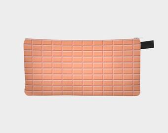 Bevel Orange Pencil Case
