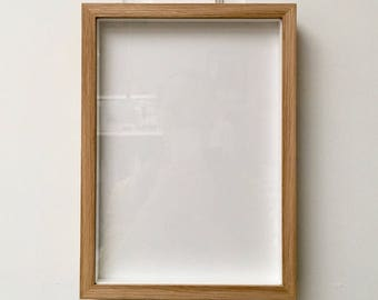 A4 Solid Oak/Ash Picture Frame - Thin Wood - Non-Breaking Gallery Acrylic