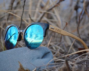 Personalized Bamboo Sunglasses. Wooden Sunglasses. Womens Sunglasses