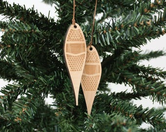 Snowshoes Ornament | Wood Ornament | Holiday Decoration | Holiday Ornament | Christmas Ornament | Home Decor | Snowshoes | Made in Maine