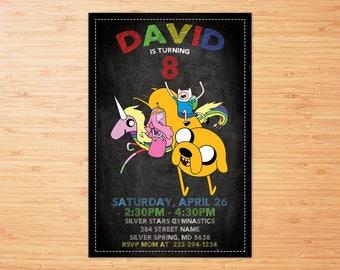Adventure Time invitation, Adventure Time invite, Adventure Time printable, Adventure Time Party, Adventure Time birthday, Personalized Invi