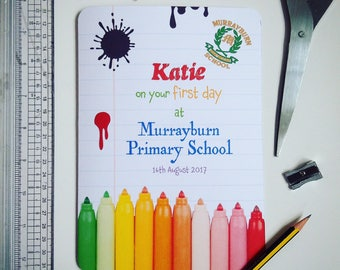 Personalised Starting School Cards