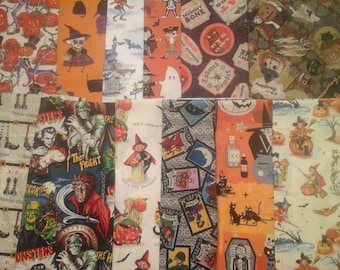Halloween Fabric 12 Half Yard cuts 6 Yards Total!!!