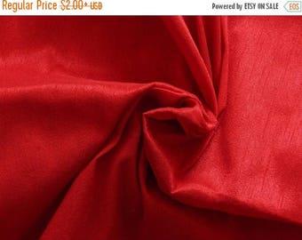 10% OFF Silk Fabric, Dupioni Silk Fabric, Blend Silk Fabric, Art Silk Fabric, Red Dupioni Fabric