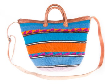 Colorful Funky Raffia 90's Hand bag/Shoulder Bag