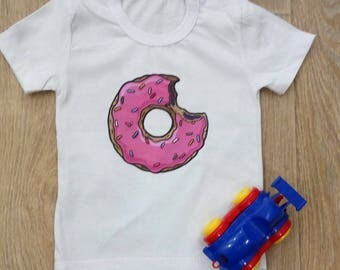 Child  T-shirt with Donut Homer Simpson cotton tee