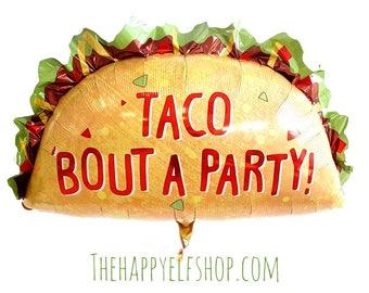 """Huge 32"""" Taco balloon. Fiesta balloons. Taco balloons. Margarita lover. Margarita decor. Taco bout a party. cinco de mayo. tequila part"""