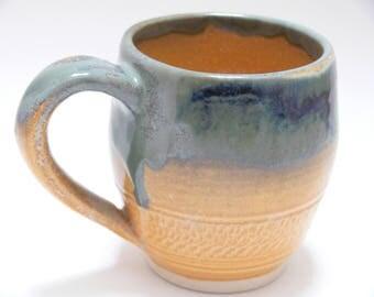 Ceramic mug - coffee mug - tea mug - orange - pottery mug - SierraAvisPottery