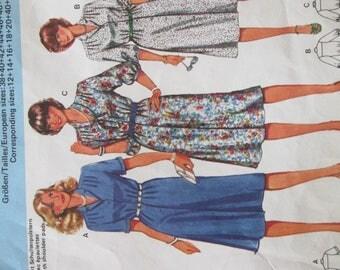 burda pattern dress women's three different models