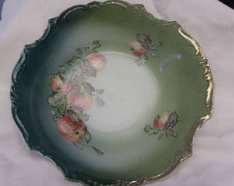 Vintage Limoges Apple Bowl handpainted