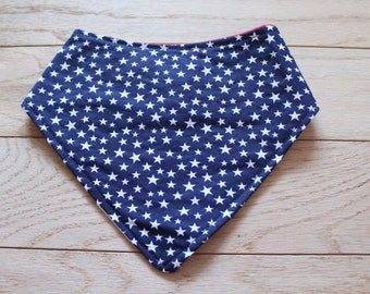 Bibdana | Triangle Bib | Stars Bib | Patriotic | Fourth of July | Baby Bibs | Stars and Stripes | Red White and Blue