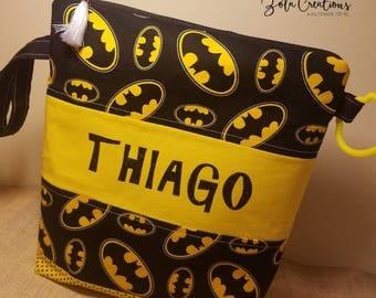 Batman diaper bag to go!!