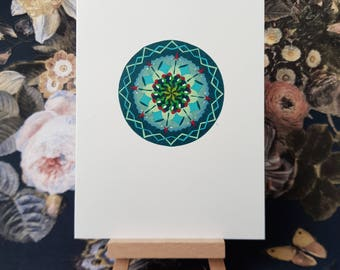 Mandala card ' Christmas wreath ' without text