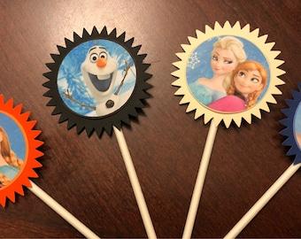 Frozen Cupcake Toppers, Frozen Birthday, Frozen Party