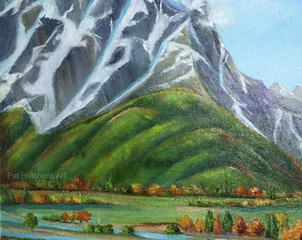 Painted Pony/oilpainting/TetonMountains/horses/JacksonHole/SnakeRiver/smallpainting/landscapepainting/