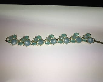 Blue and clear stone costume bracelet