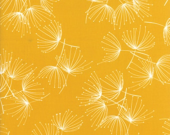 Moda FRAGILE Quilt Fabric 1/2 Yard By Zen Chic - Dandelion Mustard 1630 18