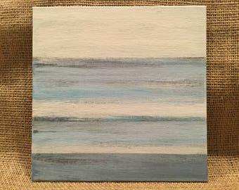 Blue abstract art, modern beach art, modern water art, small blue abstract, blue painting, nature inspired art, lake art, water artwork