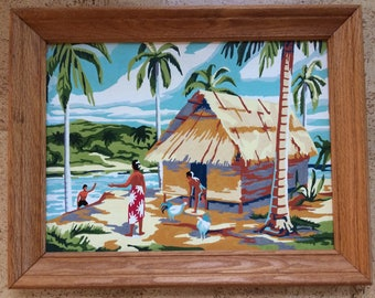 Paint By Number Polynesian Scene