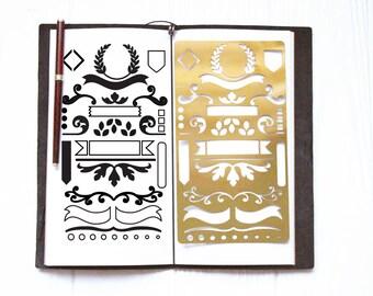 Beautiful Stencil,Planner Stencil,Bullet Journal Stencil,Stencil for Journal,Stencil for Bullet Journal,Metal Stencil,Midori Stencil,Brass,