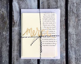 Merci thank you card set, thank you cards, handmade thank you cards, calligraphy thank you cards, vintage note cards, thank you notes