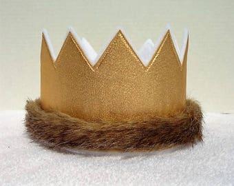 1st Birthday Crown, Wild One Birhtday Crown, Gold Birthday Crown, Wild One Birthday Hat, Birthday Party Hat, Kids Crowns, King Crown