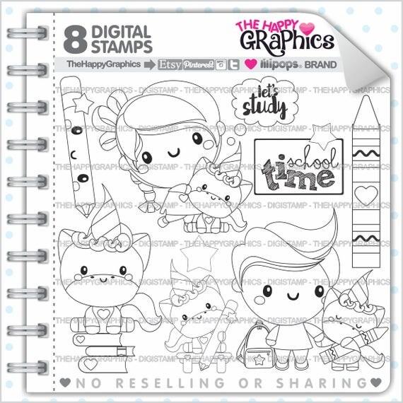 Back To School Stamp COMMERCIAL USE Digi Digital Image