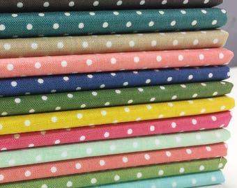 Swiss Dot Fat Quarter Bundle, 12 pieces