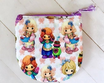 SUMMER SALE Precious Moments zipper pouch coin purse credit card pouch