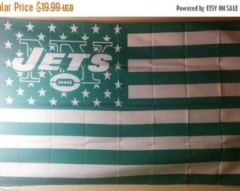 PRE-SEASON SALE 30% Off New York Jets, Jets Nation Flag or Banner 3' x 5'