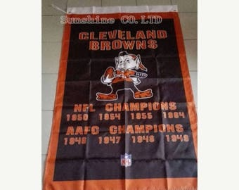 PRE-SEASON SALE 30% Off Cleveland Browns Nfl Champions Banner 3' x 5' Browns Man Cave