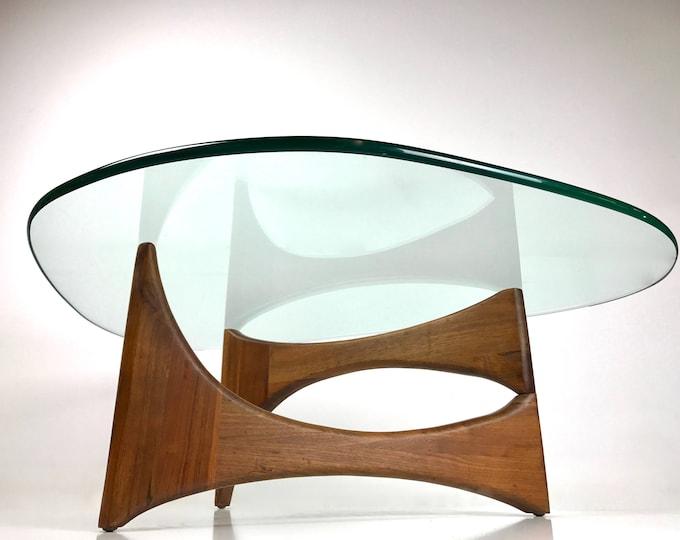 Mid Century Modern ADRIAN PEARSALL Sculpted Teak Biomorphic Coffee Table NOGUCHI Style